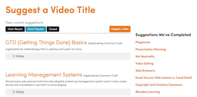 Video Topics   Common Craft