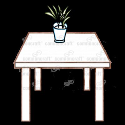 Desk Plant Scene