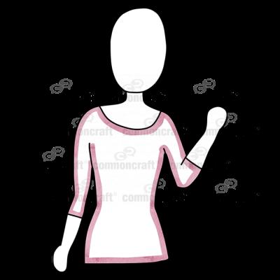 Female Waist Arm Up Pink