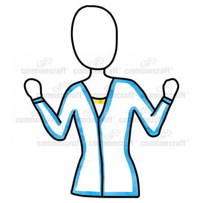 Female Waist Hands Up Holding Blue