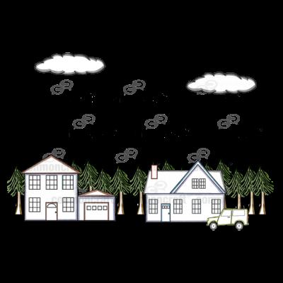 Houses Neighborhood Scene