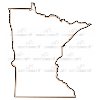 Minnesota State US Map