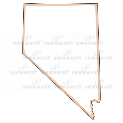 Nevada State US Map Common Craft