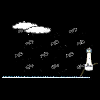 Ocean Lighthouse Scene