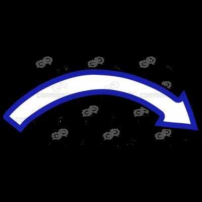 One-Third Arrow Blue