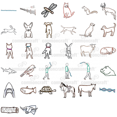 Pack of Animal-related Cut-outs 1