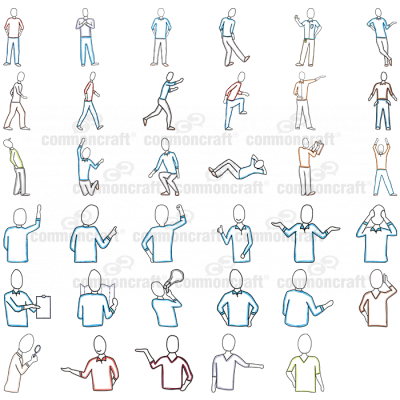 Pack of Men-related Cut-outs 1