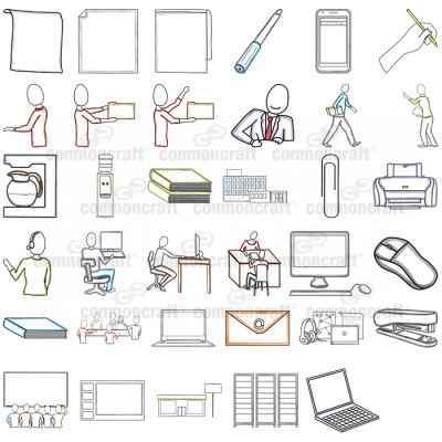 Pack of Office-related Cut-outs 1