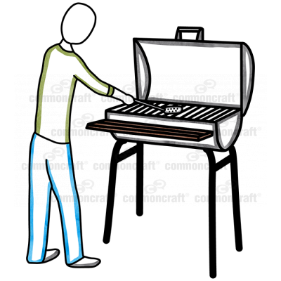 Person and Grill
