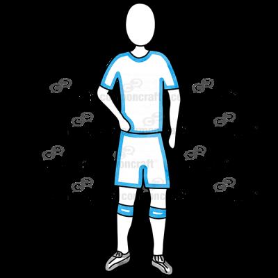 Soccer Blue Arm Down