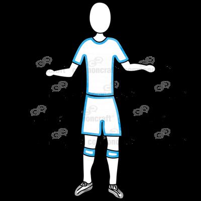 Soccer Blue Both Up