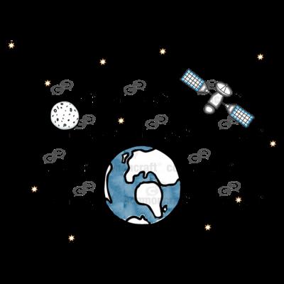 Space Satellite Scene