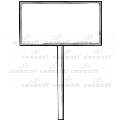 Store Sign Post