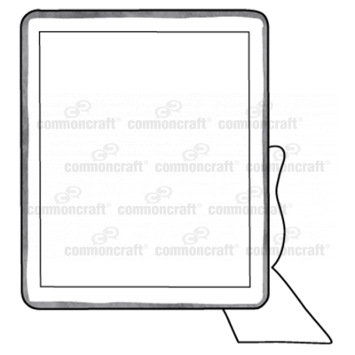 Tablet in Hand Scene