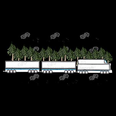 Train Trees Scene
