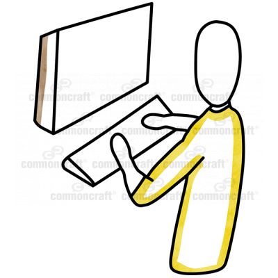 Yellow Person Computer