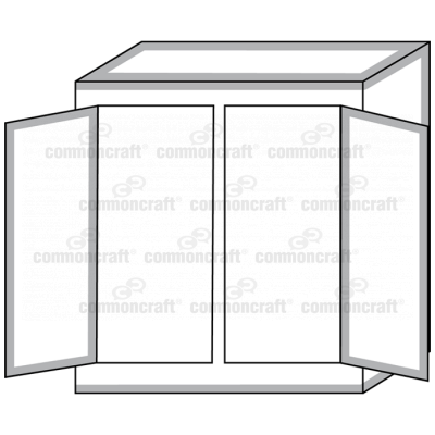 Cabinet Closet Open