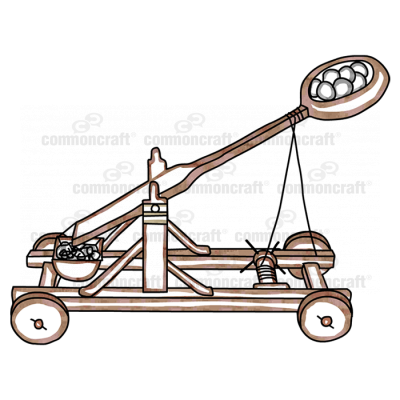 Catapult on wheels