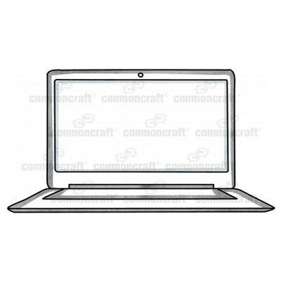 Laptop Computer front