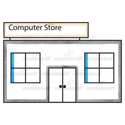 Computer Store Building