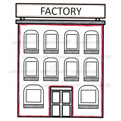 Factory with front windows