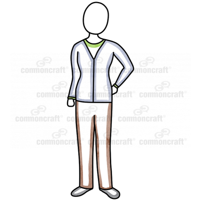 Female Cardigan Standing