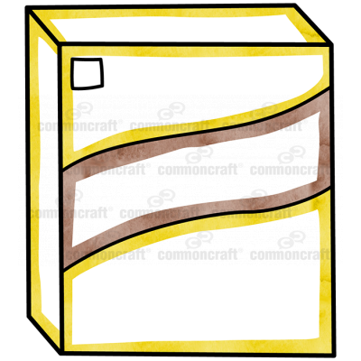 Box Food Yellow