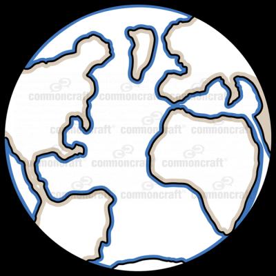Globe Atlantic Dark Blue