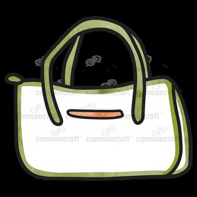 Hand Bag Green