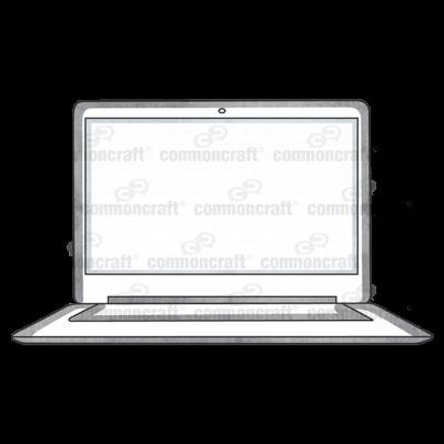 Laptop Computer Front 2