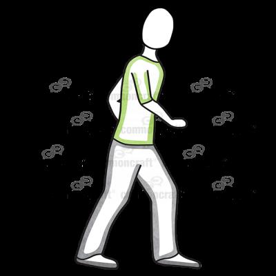 Male Step Green