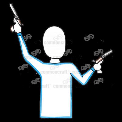 Male Waist Guns Up Down