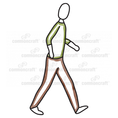 Male Walking Green