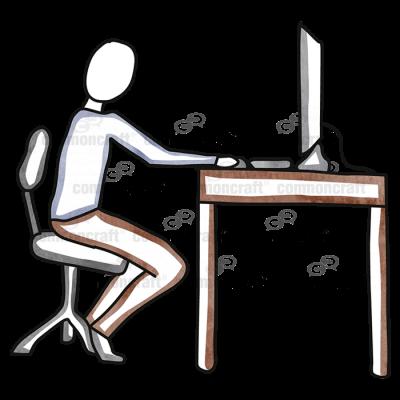 Person Computer Desk