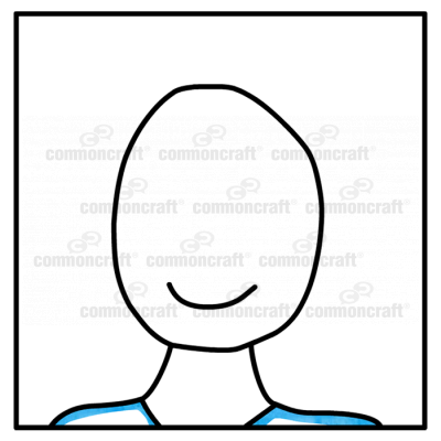 Portrait Icon Headshot Blue Close