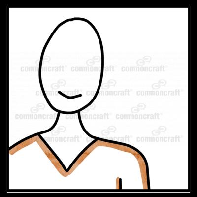 Portrait Icon Headshot Brown
