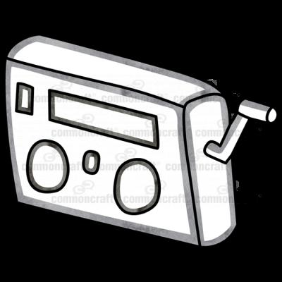 Radio with Crank