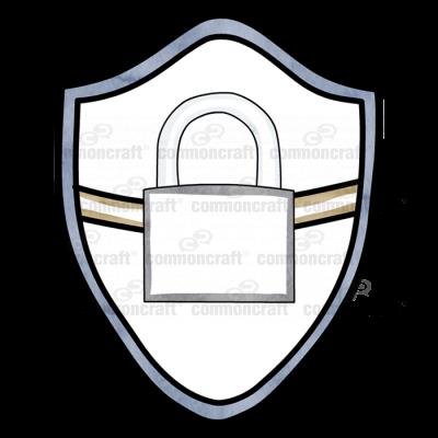 security shield lock padlock
