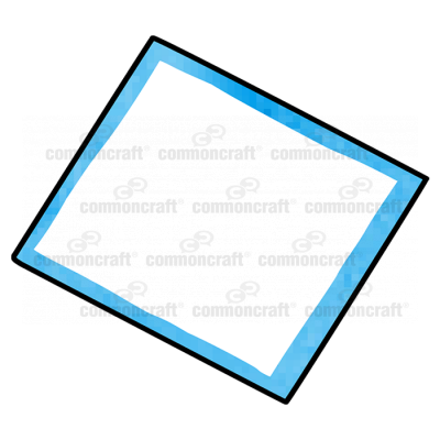 Sheet Rectangle Blue