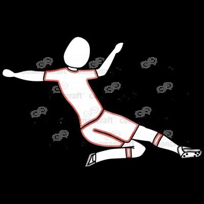 Soccer Slide Tackle Red