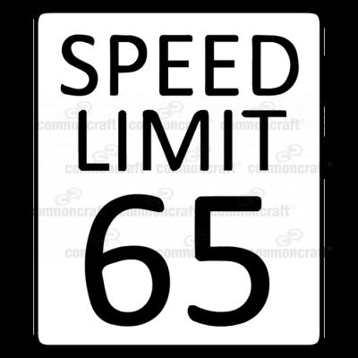 Speed Limit Sign 65