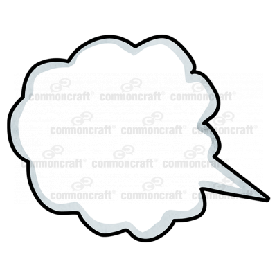 Talk Bubble Cloud Corner