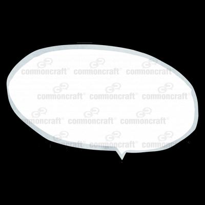 Talk Bubble Oval Down Offcenter